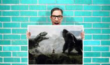 King Kong Art Work - Wall Art Print Poster   - poP aRT Geekery